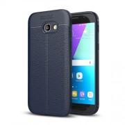 Samsung Galaxy A5 Case, (2017) / A520 Litchi Texture TPU Protective Case(navy)