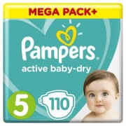 Pampers Подгузники Active Baby-Dry Junior 5 р. (11-16 кг) 110 шт.