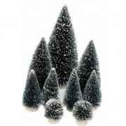 Geen Set van 9 kerstbomen