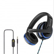 OWV-P4 Gaming Headphone Wired Headset with Mic for PC Cell Phone PS4 Laptop - Blue