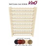 Raft VinO din lemn 9x8- 72 sticle