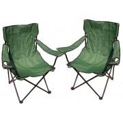 Zestaw dwóch krzeseł turystycznych - zielone
