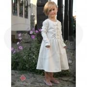 Haljina sa mašnicama, boja vanile