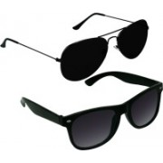 SPY RAYS COLLECTION Wayfarer, Aviator Sunglasses(Black)