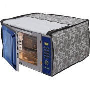 Glassiano Geometric Grey Printed Microwave Oven Cover for Bajaj 20 Litre Grill Microwave Oven 2005 ETB White