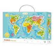 PUZZLE - CONTINENTELE LUMII (100 PIESE) - DODO (DO300123)
