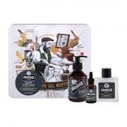 PRORASO Cypress & Vetyver Beard Wash 200 ml sada šampon na vousy 200 ml + balzám na vousy 100 ml + olej na vousy 30 ml + plechová dóza pro muže