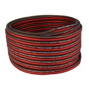 Bullz Audio BPES16.100 100' True 16 Gauge AWG Car Home Audio Speaker Wire Cable Spool (Clear Red/)