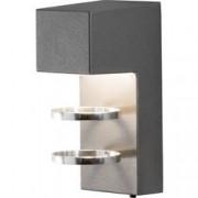 Konstsmide Venkovní nástěnné LED osvětlení Konstsmide Acerra 7957-370, 5 W, teplá bílá, antracitová