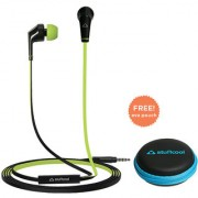 Stuffcool VIV In-Ear Wired Earphones Headphone with Stereo Sound and Hands-free Microphone and Volume Button - Green