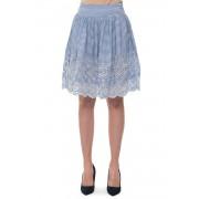 Guess Gonna a pieghe Bianco/azzurro Cotone Donna