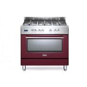 DeLonghi Linea PRO Cucina a Gas 90x60cm 5 Fuochi Forno Elettrico Multifunzione Inox Bordeaux