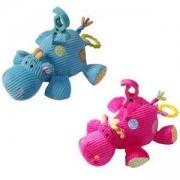 Бебешка плюшена музикална играчка - Хипопотам, Babyono, налични 2 цвята, 9070046