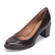 Clarks Women's Tarah Sofia Burgundy Brown Leather Pumps - 6 UK/India (39.5 EU)