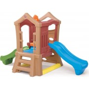 Step2 Speeltoestel Play Up Double Slide Climber - twee niveaus en twee glijbanen