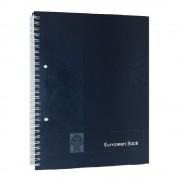 Caiet European Book A4 de Matematica cu Dublu Spira Metalica, 80 File, Coperta Policromie Albastra, Caiet Spiralat Matematica, Caiete Tip Agenda