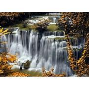 Sim-Puzzle Sim, 20.6 x 15.1 Pulgadas Rompecabezas Juegos Hemos jugado 500 Piezas Hechas de Madera de Tilo de Primera Calidad DIY Regalo en Caja Regalo Wrap Room Mural : Waterfalls Seasons Autumn Nature