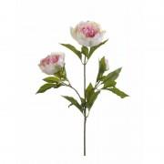 Geen Licht roze pioenroos kunstbloem op steel 70 cm