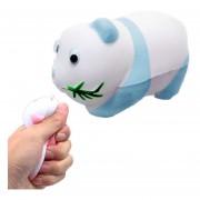 Simulación Panda Forma Squishy Lento Aumento De Toy Lento Repunte PU Mitigador De La Tension Squeeze Toy (azul)