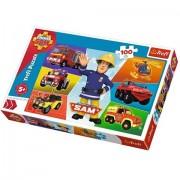 Puzzle Vehiculele lui Sam Pompierul Sam 100 piese