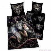 ANNE STOKES - The wolf queen 2 részes ágynemű-garnitúra 135x200+80x80 cm