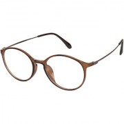 Arzonai Watts Oval Brown-Transparent UV Protection Sunglasses For Men & Women |MA-3103-S7|