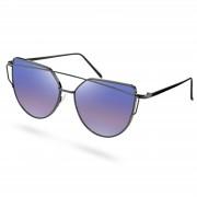 Paul Riley Abstrakta Solglasögon med Lilanyanserade Polariserade Glas