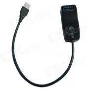 Tarjeta de adaptador de red Ethernet WBTUO USB 3.0 a RJ45 10/100 / 1000Mbps Gigabit LAN - Negro