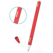 Apple Pencil (2nd Generation) Silicone Case with Cap - Red