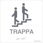 """Taktil skylt """"Trappa"""" Vit"""
