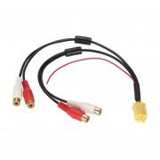 YKT-AB055 4 Puertos RCA Hembra Cable De Audio Mini ISO Para AUDI SKODA Para Ford -multicolor