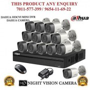 Dahua 2 MP HDCVI 16CH DVR + Bullet Camera 13Pcs CCTV Combo