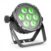 Beamz BT270 LED Flat Par Reflector LED 7x 6W 4 en1 LEDs RGBW Mando a distancia (Sky-151.306)