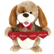 Animated Puppy Love Plush Dog Stuffed Animal Sings Sugar Pie Valentine Gift