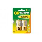 GP 14AU-U2 - GP Ultra Alkaline LR14 Size C, 1,5V 2-PACK
