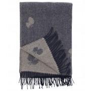 Klippan Yllefabrik Choucho sjal, gråblå, klippan yllefabrik