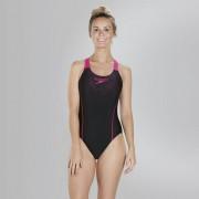 Speedo Női Fürdőruha Sports Logo Mdlt Af Black/pink(uk) 8-09689B344