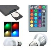 O idee speciala pentru decorare! Bec multicolor (RGB) cu telecomanda