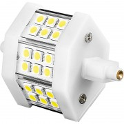 Luminea LED-SMD-Lampe mit 18 High-Power-LEDs, R7S, 78mm, warmweiss