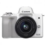 Canon EOS M50 vitt kamerahus + EF-M 15-45/3,5-6,3 IS STM