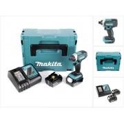 Makita DTD 152 RTJ 18V Li-Ion Visseuse à chocs sans fil avec boîtier Makpac + 2x Batteries BL 1850 5,0 Ah Li-Ion + 1x Chargeur rapide DC 18 RC