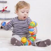 Jucărie interactivă pentru dexteritate, Omida colorată