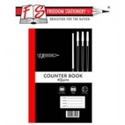 Freedom A4 Feint and Margin 4 Quire Counter Book