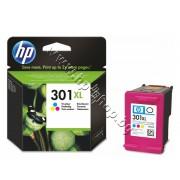 Касета HP 301XL, Tri-color, p/n CH564EE - Оригинален HP консуматив - касета с глава и мастило