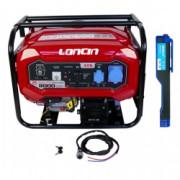 Generator Loncin LC 8000D-DCS cu automatizare 7 kW motor 15 CP monofazat 220V + Cadou Lanterna LED magnetica