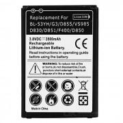 """""""Alta calidad de reemplazo """"""""3500mAh"""""""" Li-ion de la bateria para LG G3 / D855 / VS985 / D830 / D851 / F400 / D850 - Negro"""""""