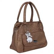 MAK Women's leather handbag (FLP-LH-BROWN)