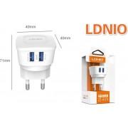 LDNIO AC63 2 poorten Oplader 2.4A met 1 Meter Micro USB Kabel geschikt voor o.a CAT S31 S41