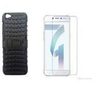Oppo A71 Tempered Glass With Tyre Defender Cover Combo Deal Standard Quality