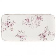 Porcelán tálca 295x150x50mm, Ditsy Floral fehér